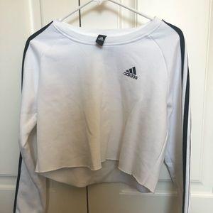 adidas long sleeve crop top